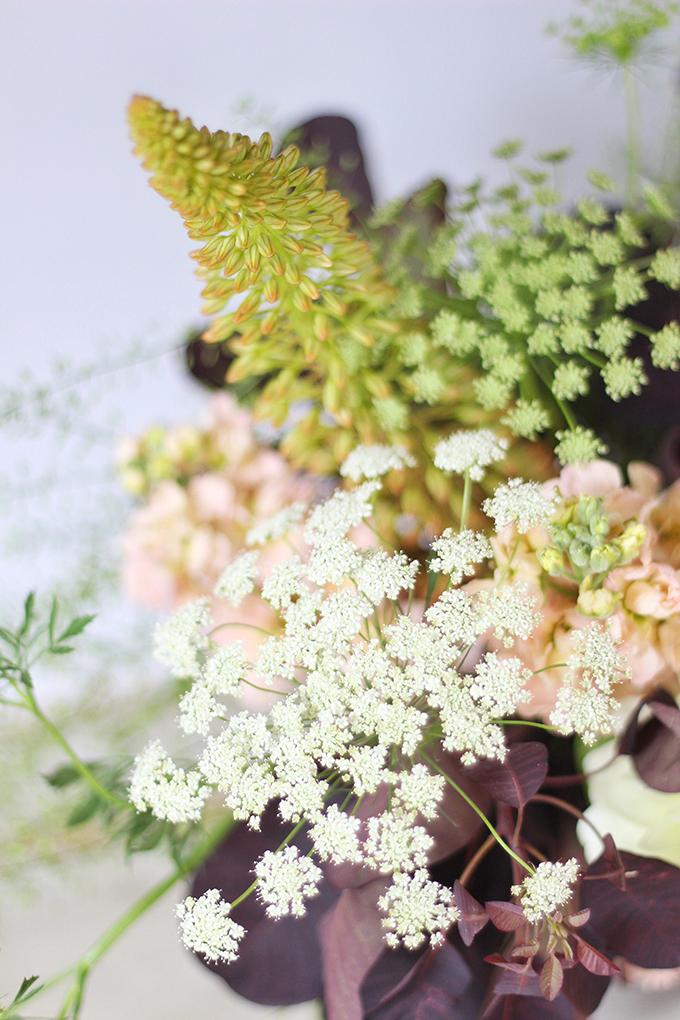 An Introduction to Autumn Flowers | Autumn Arrangement with Queen Anne's Lace // JustineCelina.com x Rebecca Dawn Design