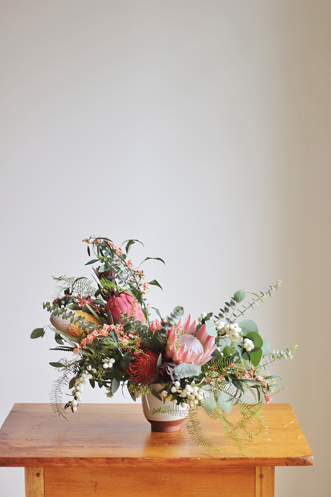 An Eclectic, Globally Inspired Arrangement // JustineCelina.com x Rebecca Dawn Design