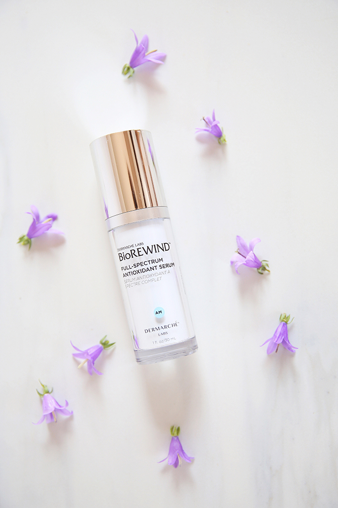 Dermarche Labs BioREWIND AM Full-Spectrum Antioxidant Serum Photos, Review // JustineCelina.com b