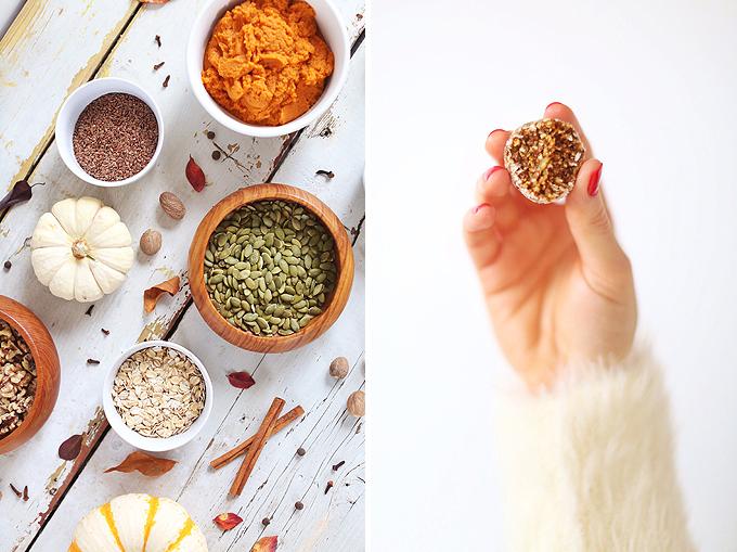 Plant Based Pumpkin Pie Energy Bites | #Vegan, #GlutenFree, #RefinedSugarFree // JustineCelina.com