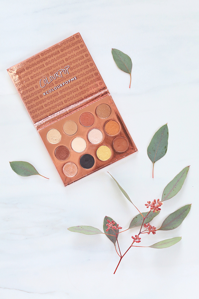 Colourpop I Think I Love You Pressed Eyeshadow Palette | November 2017 Beauty Favourites //Photos, Review, Swatches // JustineCelina.com