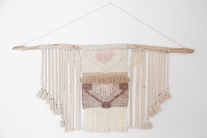 DIY | Large Driftwood Macrame Wall Hanging | How to Make a Large Macrame Wall Hanging for Less Than $50! // JustineCelina.com