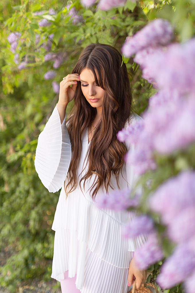 Spring 2018 Trend Guide | Lavender Love | Fluted Sleeves | Calgary, Alberta Fashion Blogger // JustineCelina.com
