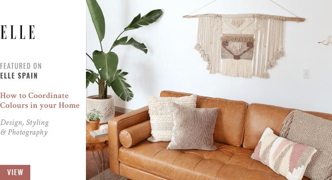 JustineCelin Space Refresh Living Room Reveal Featured on ELLE Spain // JustineCelina.com