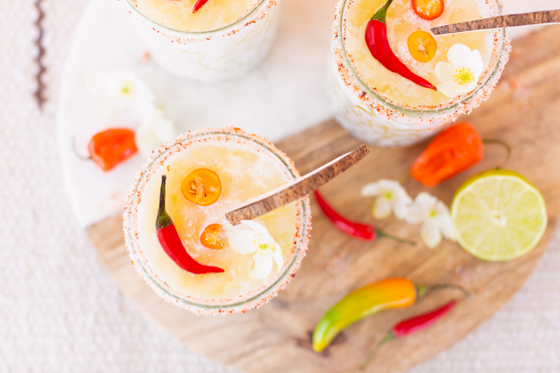 Creamy Coconut Mango Mezcalritas | Mango Margarita | Coconut Mango Margarita | Smoky Mezcal Cocktails | Mango Mezcal Margarita | Tajín Salted Rim | Mezcalerita Drink | Best Mezcal Oaxaca | Mezcal Margarita Recipe | Simple Mezcal Cocktails | Vegan Mezcal Cocktail | Oaxacan Mezcalrita Recipe | Mango Margarita Cointreau | Dairy Free Mango Coconut Cocktail | Refined Sugar Free Margarita | Calgary Cocktail Photographer and Stylist | Calgary Lifestyle, Food and Cocktail Blogger // JustineCelina.com