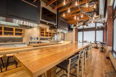 Community Tasting Table / Reclaimed Heart Pine & Steel ...