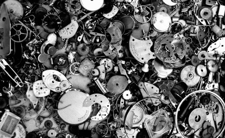 a pile of broken clocks