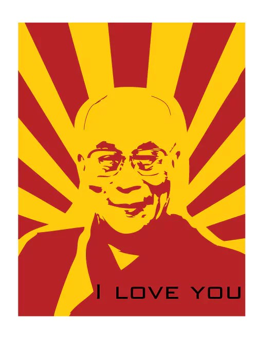 Propadhamma Poster of the Dalai Lama