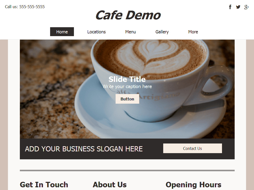 Cafe Demo Site