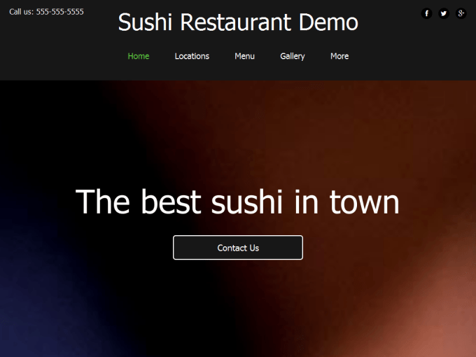 Sushi Place Demo