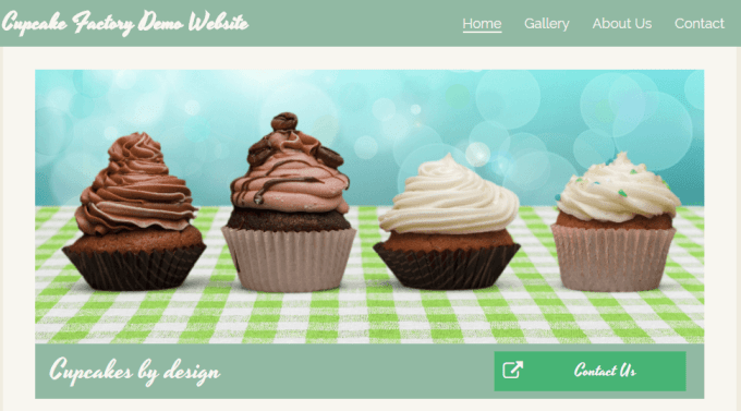 Cupcake Factory Website Demo