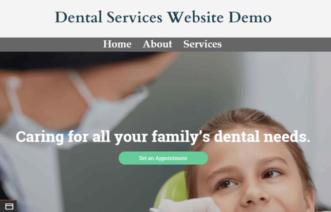 Dental Services Website Demo