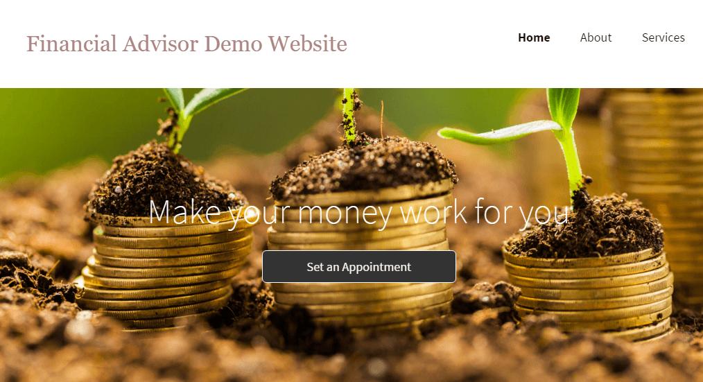 Financial Advisor Website Demo