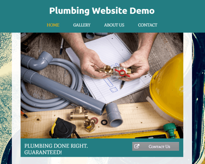 Plumbing Services Website Demo