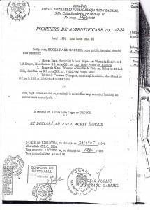 Data vânzării-cumpărării este aceeaşi cu data eliberării Certificatului de moştenitor şi legatar nr. 90: 1 iunie 1999.