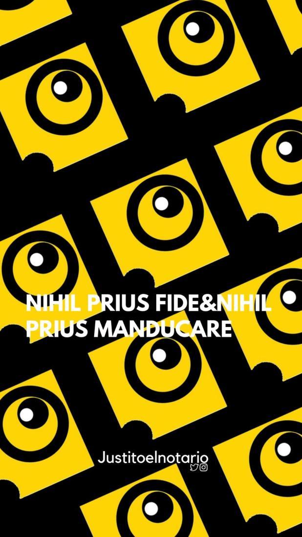 justito nihil prius fide