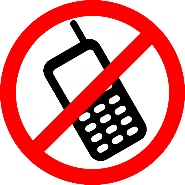 Prohibido teléfono móvil