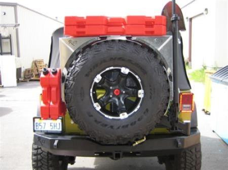 Just Jeeps Rock Slide Ez Rack Kit Spare Tire Mount Ac Tr 102s Jeep Wrangler Jk Unlimited Shop By Vehicle Jeep Parts Store In Toronto Canada