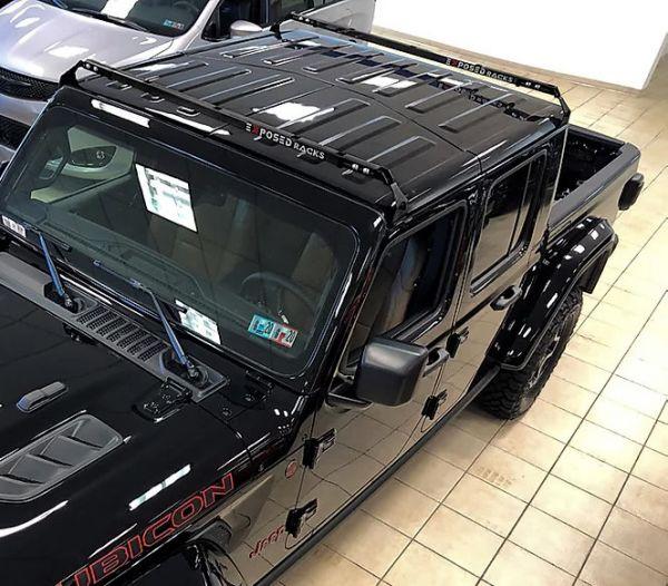 exposed racks hardtop roof rack for 18 jeep wrangler jl jlu 20 gladiator jt 8 00 9755