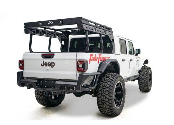fab fours tor 01 1 overland rack for 2020 jeep gladiator jt 4 door models