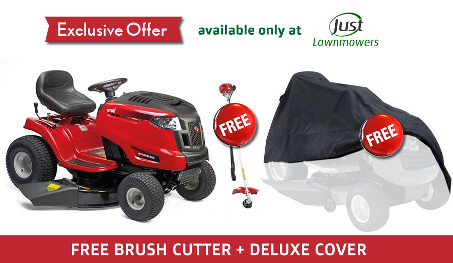 FREE BRUSHCUTTER + MULCH KIT + COVER