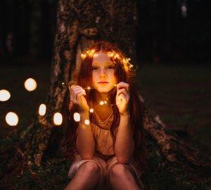 fotoshoot kind lampjes