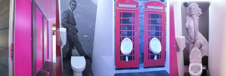 Themed toilet hire