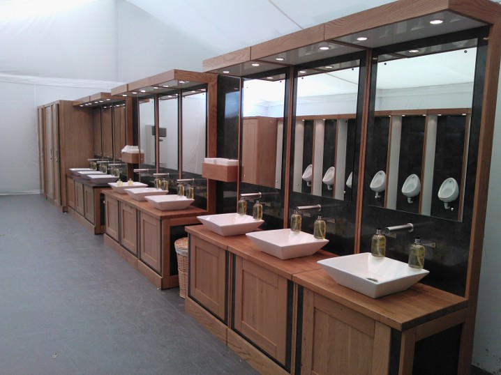 Moduvac toilets and vanities in our designer Washrooms