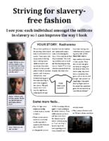 Slavery in Fashion