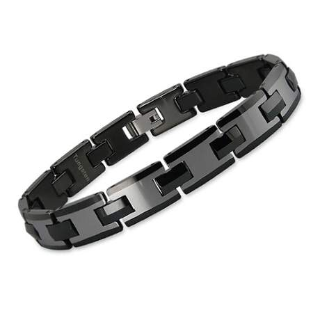 Mens Two Toned Tungsten Bracelet