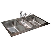 3 compartment sink commercial kitchen