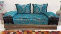 Moroccan Salon  Moroccan living room set  moroccan salon   sofa     Casa Blue Sofa