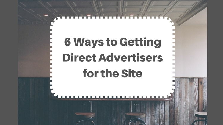 getting direct advertisers for the site