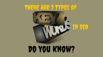7 Types of Keywords in SEO Everyone Must Know
