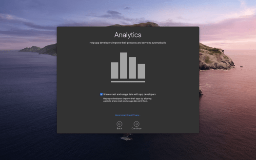 Continue with the Analytics