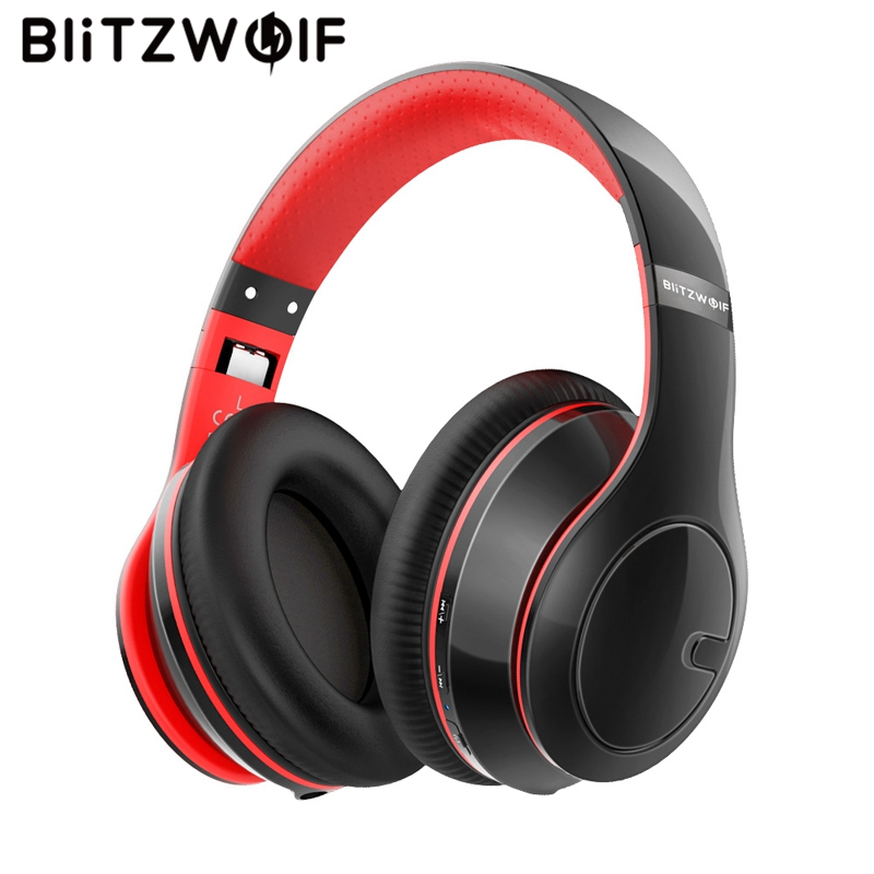 Blitzwolf Wireless Bluetooth Headphones Adjustable Foldable Stereo Over Ear Headphone Headset With Mic For Pc Phone Mp3 Justnai