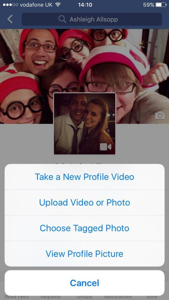 Video as Facebook Profile Picture 2