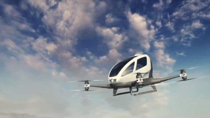 World's first flying taxi drone