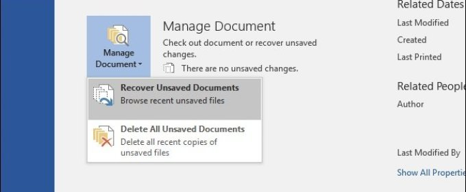 Tutorial:Recovering an Unsaved Microsoft Office File