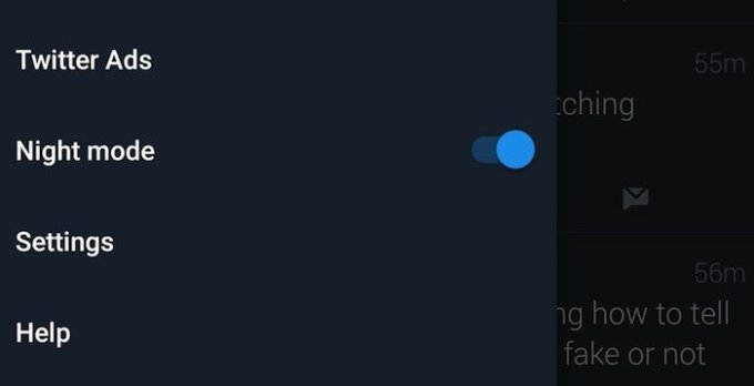 Officially,Twitter's Night Mode is now available for all on Android