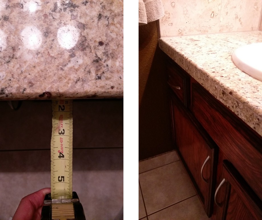 How to determine countertop overhang just needs paint for How much can granite overhang without support
