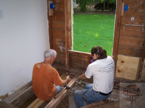 Brainstorming how to sister the joists and how far to rip up the old subfloor.