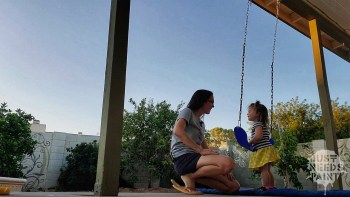 Porch Swing Set: Unboxed, Installed, Approved