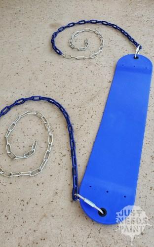 Menards Blue Swing Seat