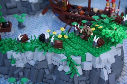 polis greca ricreata con i LEGO