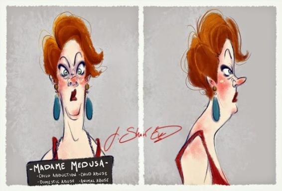 fotosegnaletiche dei cattivi della Disney