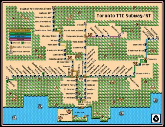 mappe delle metro in stile Super Mario