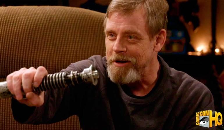 star wars Mark Hamill ritrova la sua lightsaber