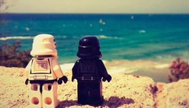 spiaggia nerd star wars