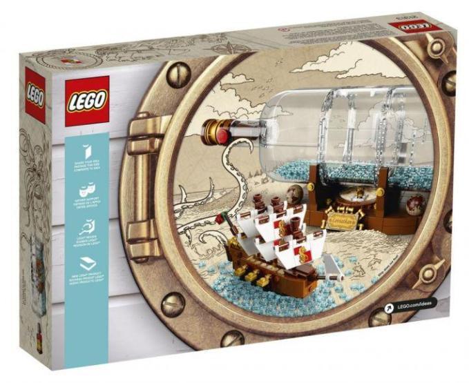 Nave in bottiglia lego (1)